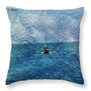 Fishing Boat As A Painting 2 Throw Pillow
