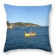 Fishing Boat - Cote D'azur Throw Pillow