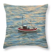 Fishing Boat Jean Throw Pillow