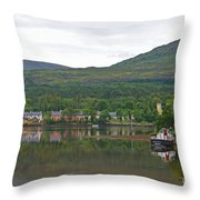 Fishing Boat On Kenmare River West Kerry Throw Pillow