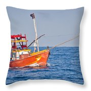 Fishing Boat  Sri Lanka Throw Pillow