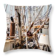 Fishing Boats Equipment Chaos Throw Pillow