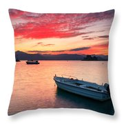 fishing boats 'II Throw Pillow