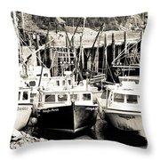 Fishing Boats In Alma Throw Pillow