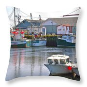 Fishing Boats In Branch-nl Throw Pillow