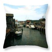 Fishing Boats In Fishtown Throw Pillow