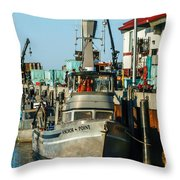 Fishing Boats In Nome Throw Pillow