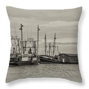 Fishing Boats - Wildwood New Jersey Throw Pillow