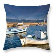 fishing boats 'XIII Throw Pillow