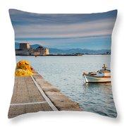 fishing boats 'XIV Throw Pillow