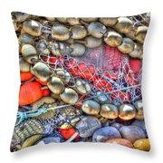 Fishing Bouys Throw Pillow