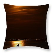 Fishing By Moonlight01 Throw Pillow