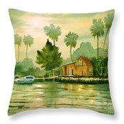 Fishing Cabin - Aucilla River Throw Pillow