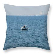 Fishing Can Be Lonely Throw Pillow