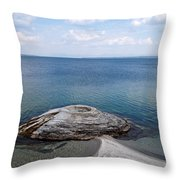 Fishing Cone Geyser In West Thumb Geyser Basin Throw Pillow