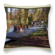 Fishing Contest - Easton Waterfowl Festival Throw Pillow