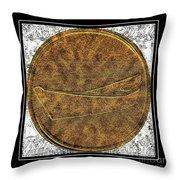 Fishing Dory - Brass Etching Throw Pillow