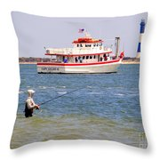Fishing Fantasy Throw Pillow