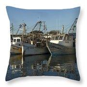 Fishing Fleet Throw Pillow