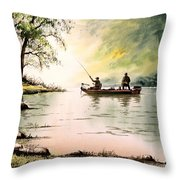 Fishing For Bass - Greenbrier River Throw Pillow
