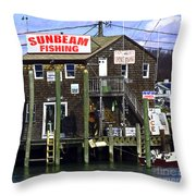 Fishing For Business Throw Pillow