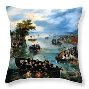 Fishing For Souls Throw Pillow