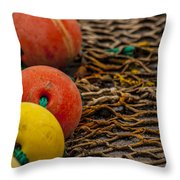 Fishing Gear Abstract Throw Pillow