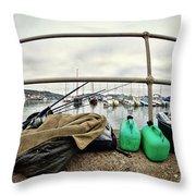 Fishing Gear Throw Pillow