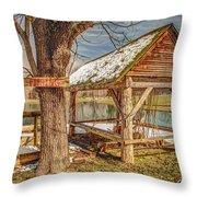 Fishing Hole Throw Pillow