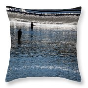 Fishing In Grand River Throw Pillow