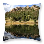 Fishing In Solitude Throw Pillow