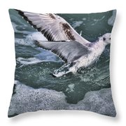 Fishing In The Foam Throw Pillow