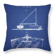 Fishing Net Patent From 1905- Blueprint Throw Pillow