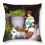 Fishing Off The Front Porch Throw Pillow