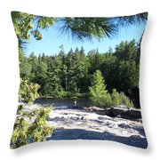 Fishing On The West Branch Throw Pillow