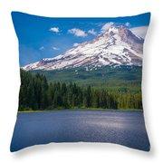 Fishing On Trillium Lake Throw Pillow