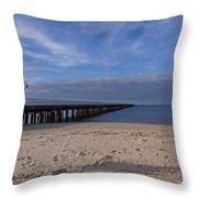 Fishing Pier 3 Throw Pillow
