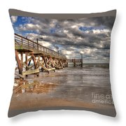 Fishing Pier Throw Pillow