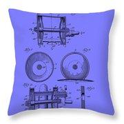 Fishing Reel Patent 1930 Throw Pillow