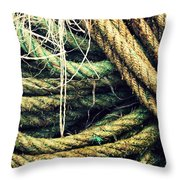 Fishing Rope Textures Throw Pillow