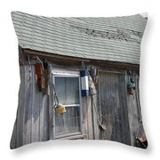 Fishing Shack In Rockport Ma Throw Pillow