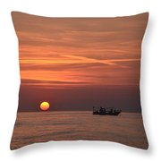 Fishing Since Before Sun-up Throw Pillow