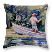 Fishing Spruce Creek Throw Pillow