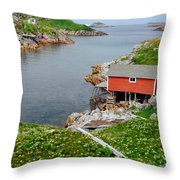 Fishing Stage Little Fogo Island Newfoundland Throw Pillow