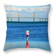 Fishing Tampa Bay Throw Pillow by David Lee Thompson