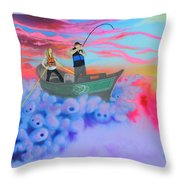 Fishing The Sky Throw Pillow