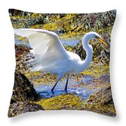 Fishing The Tide Throw Pillow