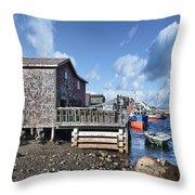 Fishing Town Throw Pillow
