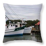Fishing Trawlers Throw Pillow