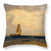 Fishing Upon The Blythe-sand Throw Pillow